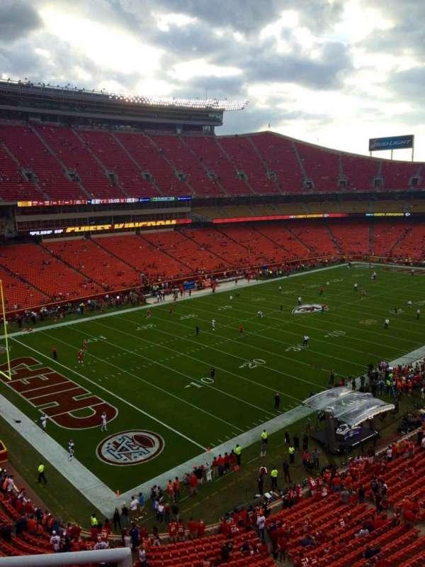 Arrowhead Stadium, section: 307, row: 3, seat: 20