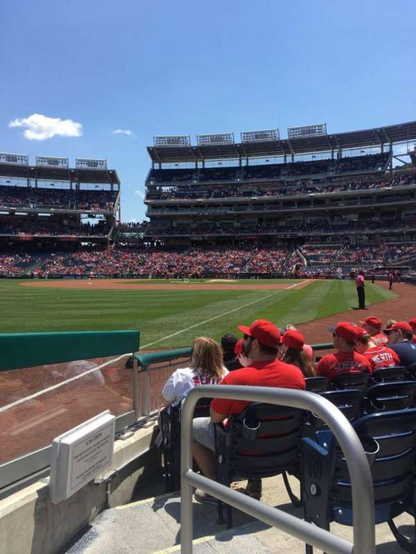 Nationals Park, section: 108, row: G, seat: 1