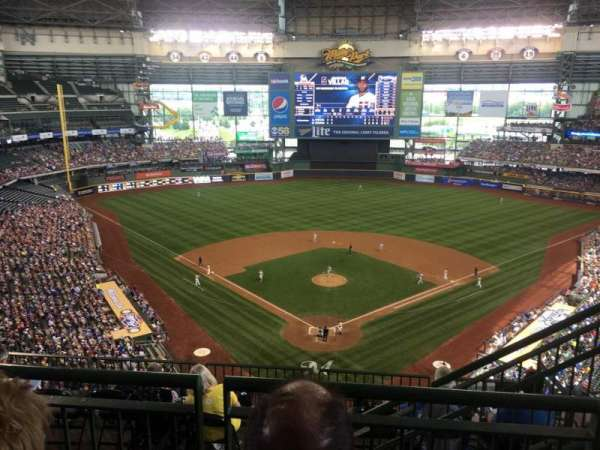 Miller Park, section: 422, row: 9, seat: 14