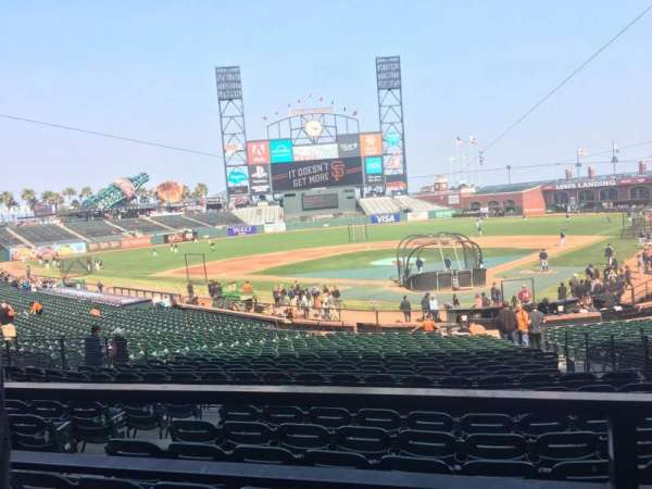 Oracle Park, section: 117, row: 31, seat: 5
