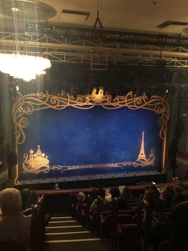 Broadhurst Theatre, section: Mezzanine L, row: K, seat: 1 and 3