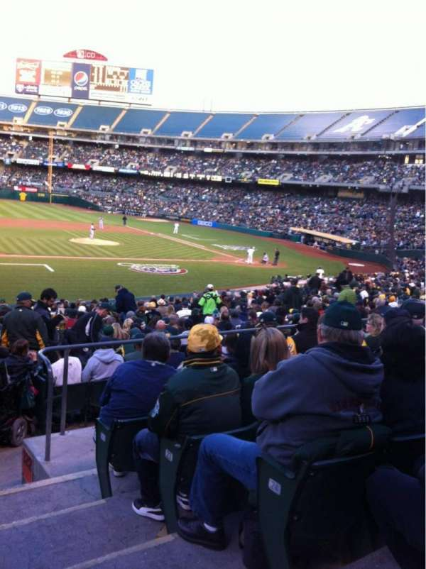 Oakland Coliseum, section: 123, row: 26, seat: 1