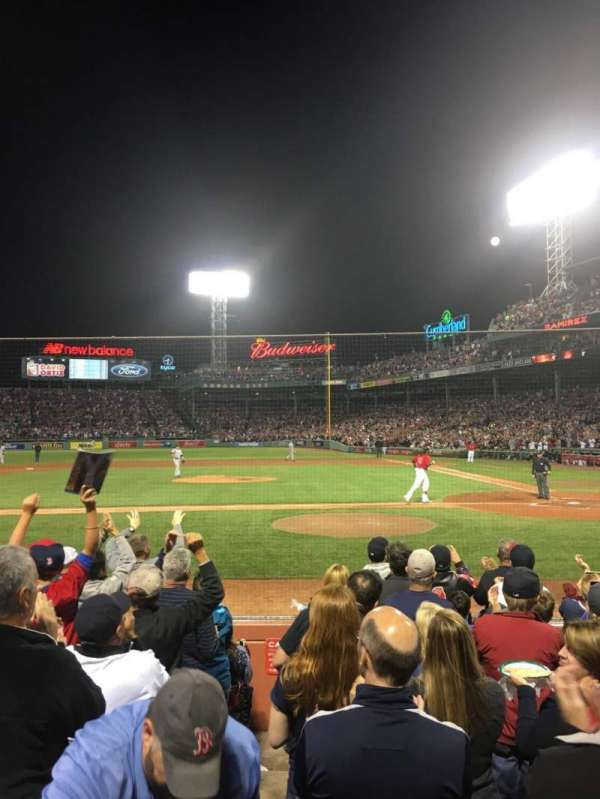 Fenway Park, section: Field Box 56, row: G, seat: 4
