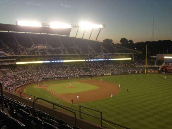 Kauffman Stadium, section: 438, row: F, seat: 8