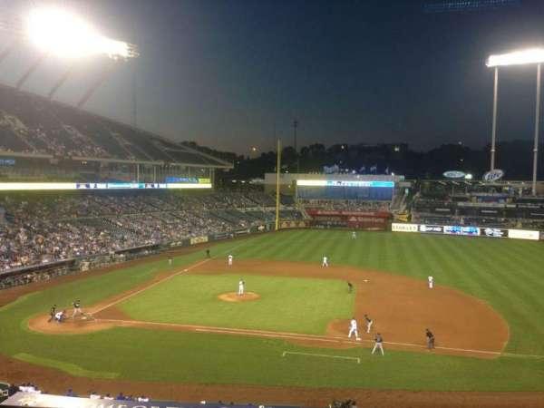 Kauffman Stadium, section: 317, row: C, seat: 2