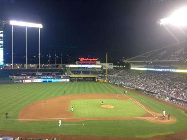Kauffman Stadium, section: 308, row: F, seat: 9