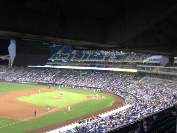 Kauffman Stadium, section: 301, row: H, seat: 1