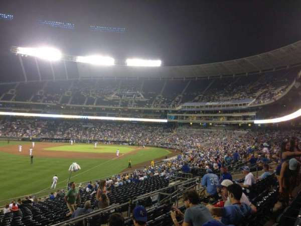 Kauffman Stadium, section: 208, row: FF, seat: 25