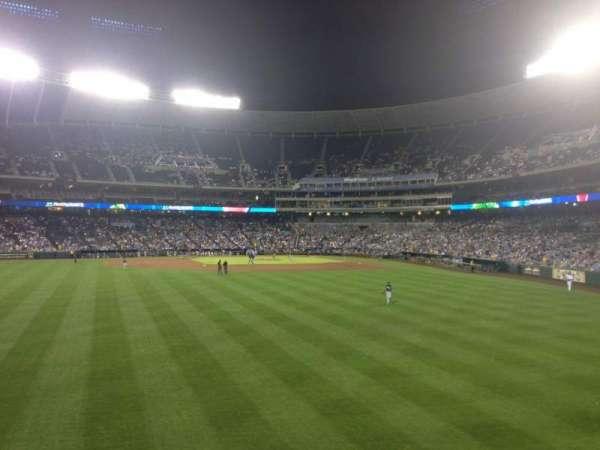 Kauffman Stadium, section: 103, row: D, seat: 20
