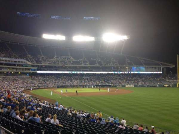 Kauffman Stadium, section: 246, row: AA, seat: 10