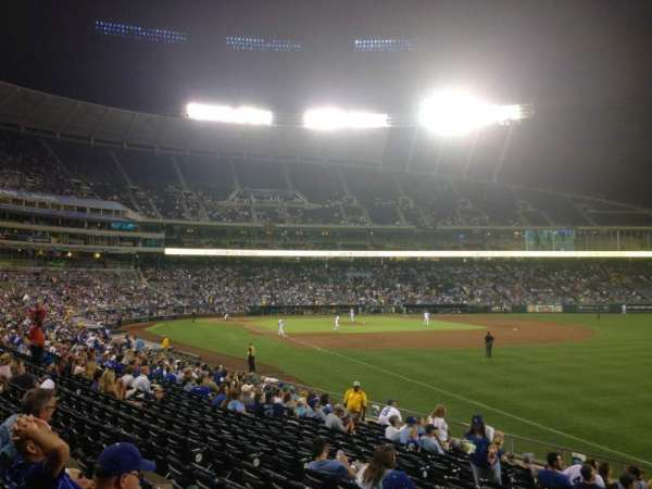 Kauffman Stadium, section: 144, row: U, seat: 12