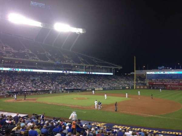 Kauffman Stadium, section: 138, row: X, seat: 11