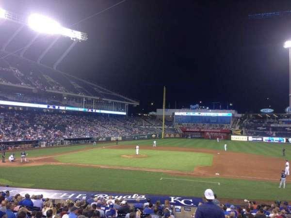 Kauffman Stadium, section: 135, row: V, seat: 10