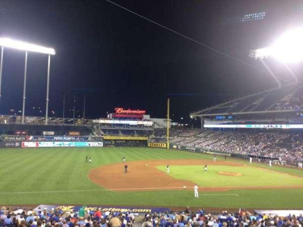 Kauffman Stadium, section: 218, row: HH, seat: 1