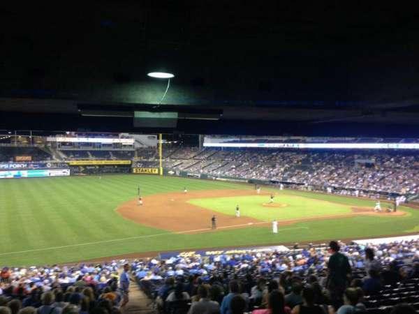 Kauffman Stadium, section: 215, row: TT, seat: 13
