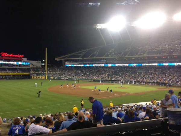 Kauffman Stadium, section: 214, row: BB, seat: 1