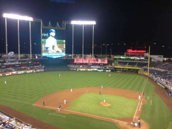 Kauffman Stadium, section: 415, row: H, seat: 10