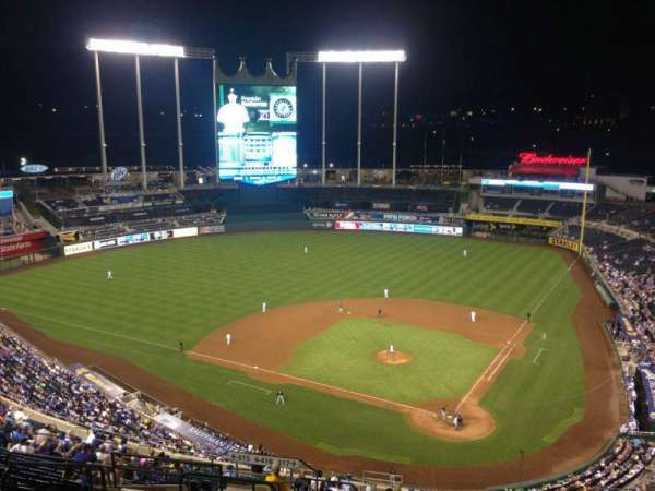 Kauffman Stadium, section: 417, row: JJ, seat: 8