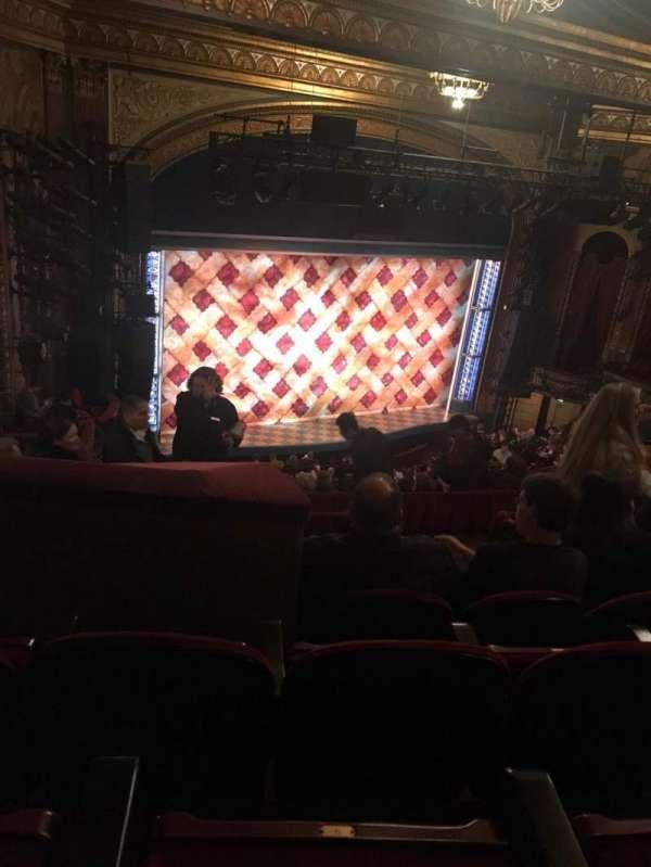Brooks Atkinson Theatre, section: Rear Mezzanine L, row: K, seat: 11