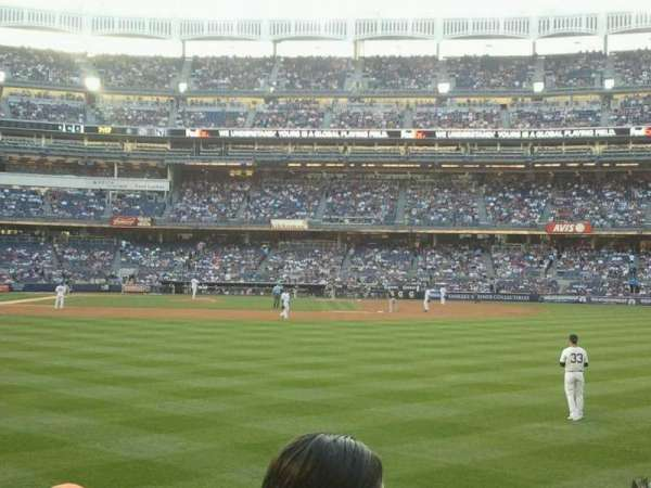 Yankee Stadium, section: 105, row: 12, seat: 8