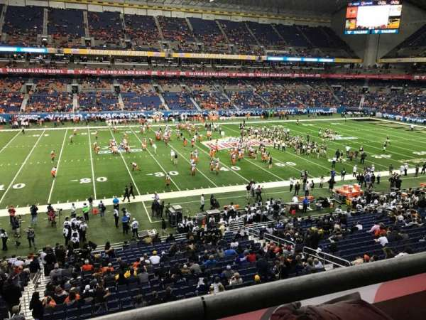 Alamodome, section: 214, row: 1, seat: 19