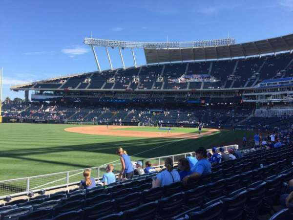 Kauffman Stadium, section: 110, row: N, seat: 12