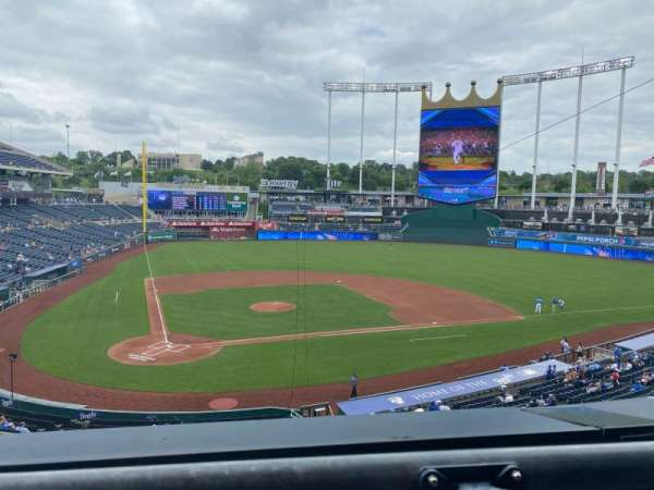 Kauffman Stadium, section: 322, row: A, seat: 7