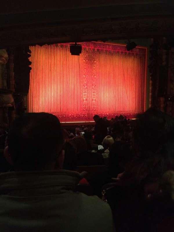 New Amsterdam Theatre, section: Orchestra L, row: U, seat: 9