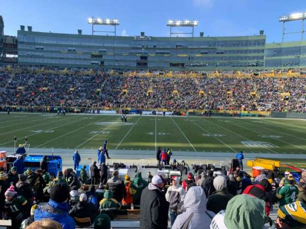 Lambeau Field, section: 117, row: 16, seat: 8