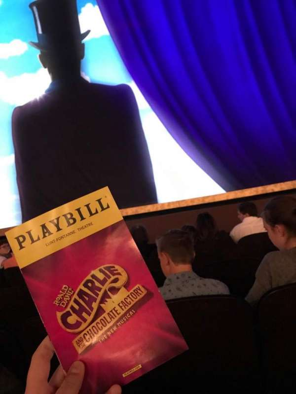 Lunt-Fontanne Theatre, section: Orchestra Center, row: G, seat: 108