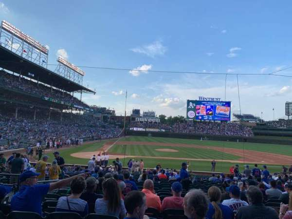 Wrigley Field, section: 122, row: 11, seat: 6