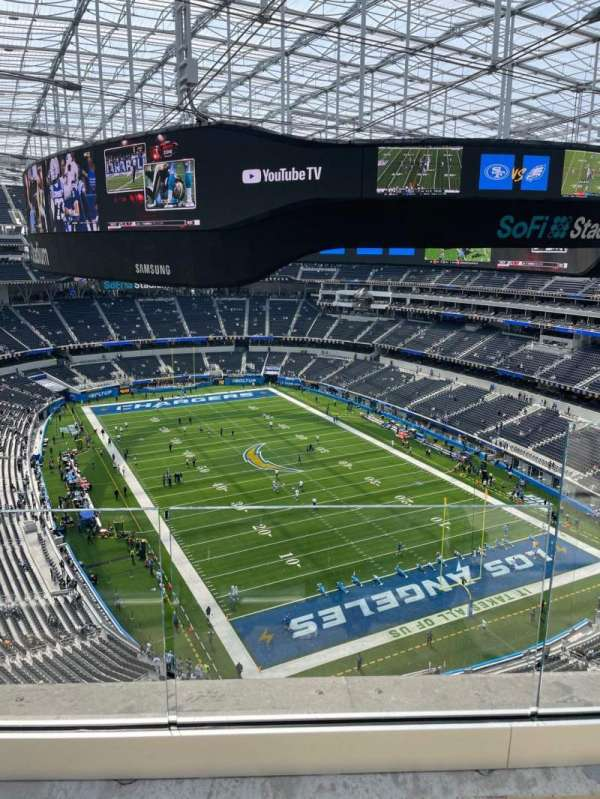 SoFi Stadium, section: 454, row: 2, seat: 2