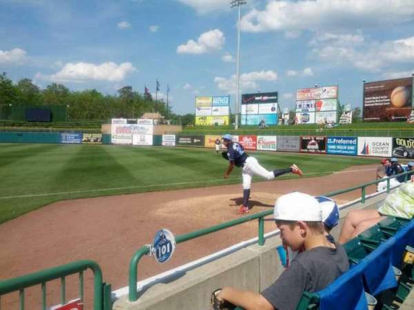 FirstEnergy Park, section: 102, row: 2, seat: 1