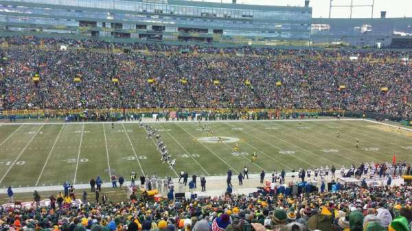 Lambeau Field, section: 123, row: 52, seat: 14