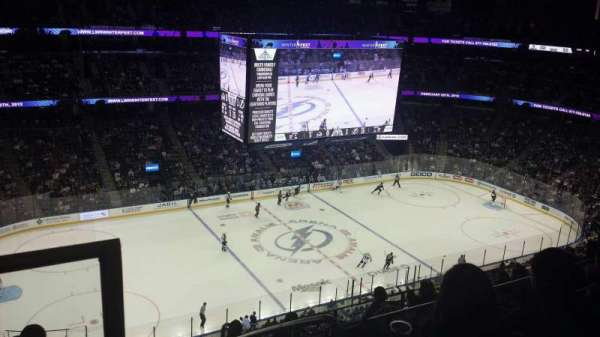 Amalie Arena, section: 318, row: H, seat: 22