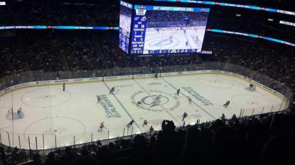 Amalie Arena, section: 303, row: L, seat: 20