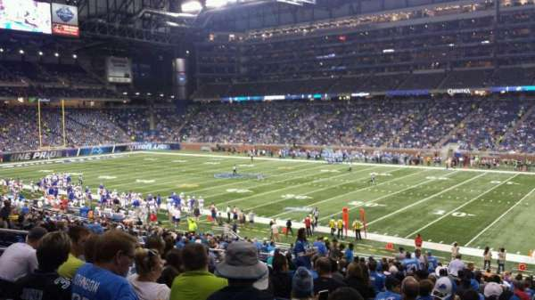 Ford Field, section: 131, row: 33, seat: 15
