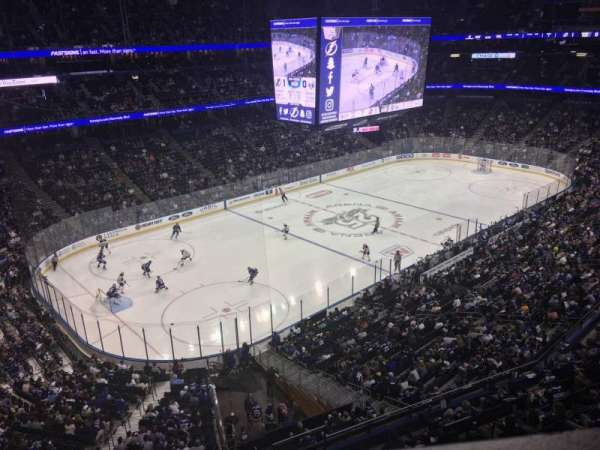 Amalie Arena, section: 215, row: A, seat: 4