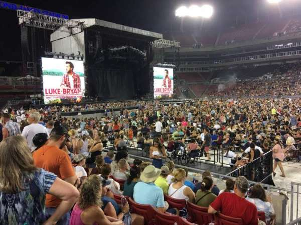 Raymond James Stadium, section: 136, row: G, seat: 1
