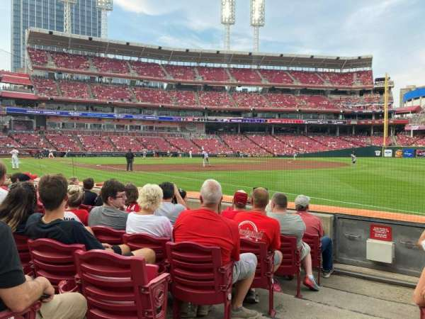Great American Ball Park, section: 135, row: G, seat: 21