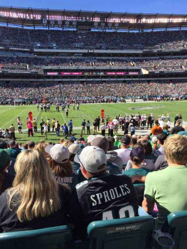 Lincoln Financial Field, section: 118, row: 14, seat: 10