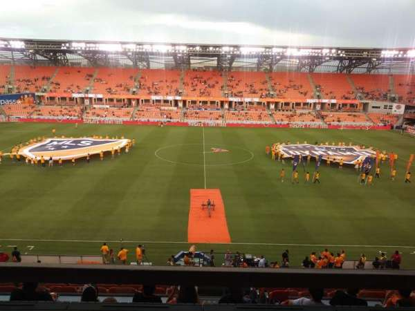 BBVA Compass Stadium, section: 206B, row: A, seat: 15