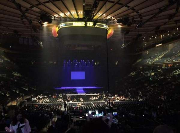 Madison Square Garden, section: 102, row: 15, seat: 4