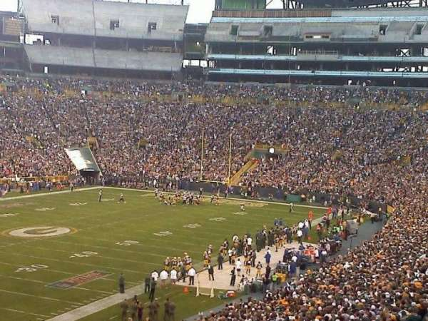 Lambeau Field, section: 108, row: 51, seat: 26