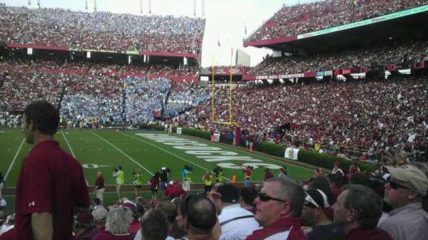 Williams-Brice Stadium, section: 7, row: 17, seat: 1