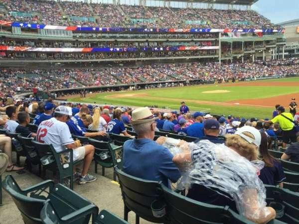 Progressive Field, section: 136, row: V, seat: 8