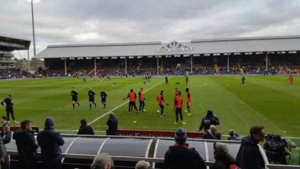 Craven Cottage, section: W, row: E, seat: 25