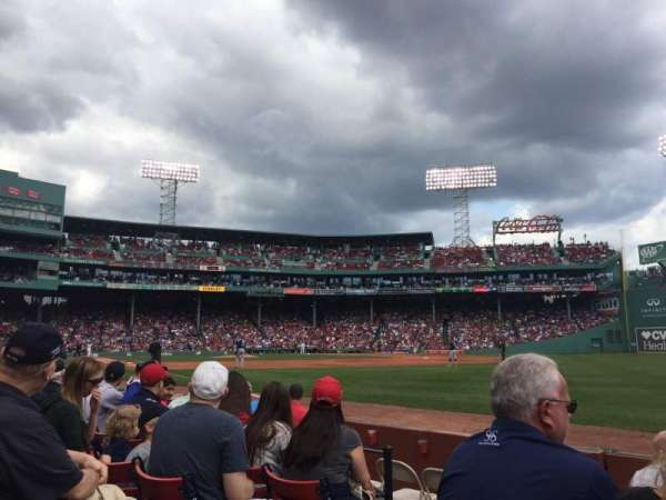 Fenway Park, section: Right Field Box 7, row: D, seat: 20