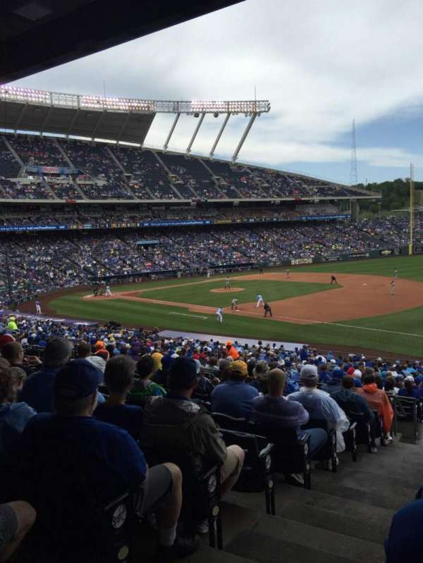 Kauffman Stadium, section: 241, row: LL, seat: 1-4