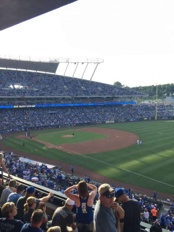 Kauffman Stadium, section: 323, row: E, seat: 13